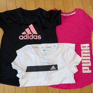 アディダス(adidas)のadidasPUMA Tシャツ3枚セットNIKEUNDER ARMORFILA(Tシャツ/カットソー)