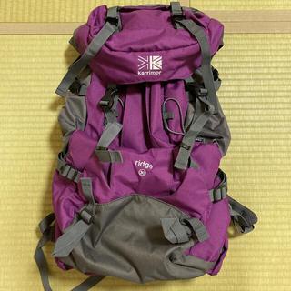 カリマー(karrimor)のカリマー バックパック ridge 30 パープル(登山用品)