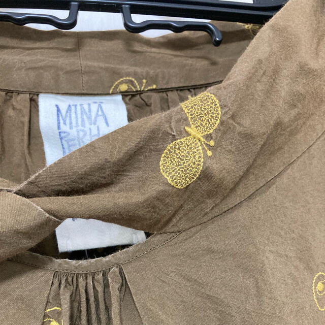 mina perhonen(ミナペルホネン)のミナペルホネン*choucho ランドリー *ワンピース レディースのワンピース(ひざ丈ワンピース)の商品写真