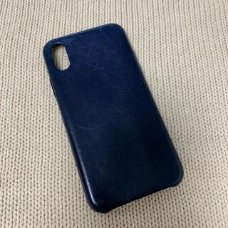 Apple - 【純正】iPhone XSレザーケース ミッドナイトブルー