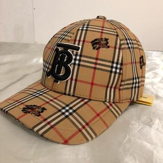 BURBERRY - Burberry バーバリー ロゴ キャップ 野球帽 タータンチェック ベージュ