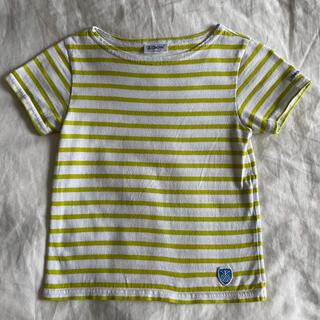オーシバル(ORCIVAL)のオーシバル キッズ ボーダー半袖Tシャツ グリーン(Tシャツ/カットソー)
