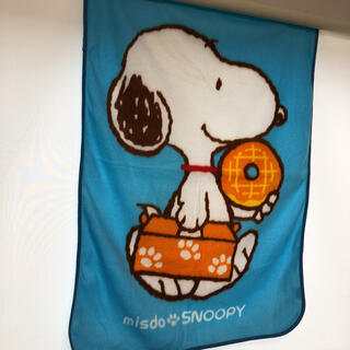 SNOOPY - スヌーピー ブランケット 水色