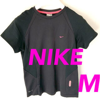 ナイキ(NIKE)のNIKE ナイキ ランニングウェア 半袖  黒 レディース M(ウェア)