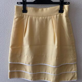 オフオン(OFUON)のオフオン 3段ティアードスカート(ひざ丈スカート)