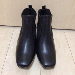 シマムラ(しまむら)のプチプラのあやさんしまむらサイドコア黒ブーツ Sサイズ(ブーツ)