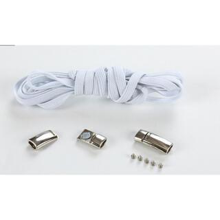 靴紐 白 結ばない伸縮性靴ひもくつひも ゴム金属強い磁気ホックロック(シューズ)