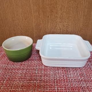 ルクルーゼ(LE CREUSET)の【未使用】ル・クルーゼ お皿二枚セット(食器)