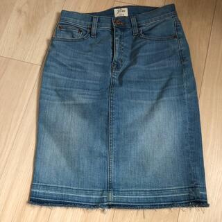 ジェイクルー(J.Crew)のJクルー デニムスカート(ひざ丈スカート)