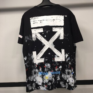 OFF-WHITE - 人気OFF-WHITE Tシャツ 男女兼用  正規品