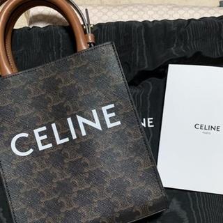 celine - CELINE/ミニバーティカルカバ/トリオンフキャンバス