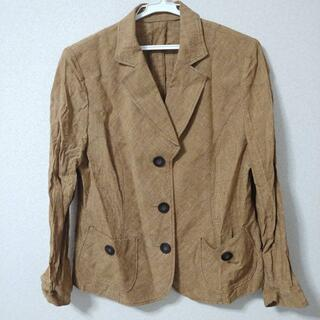 イタリヤ(伊太利屋)のロザース リネン テーラード ジャケット グレンチェック 大きいサイズ 13(テーラードジャケット)