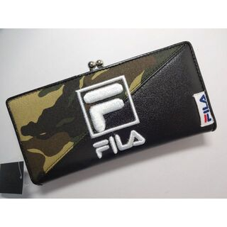 FILA - 新品 FILA フィラ 長財布 ガマ口付き タグ付き 迷彩/黒