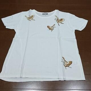 pawder ラメ蝶々柄 Tシャツ(Tシャツ(半袖/袖なし))