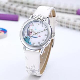 アナトユキノジョオウ(アナと雪の女王)の【大人気!】アナと雪の女王の腕時計☆ホワイト 新品 SALE中❣️(腕時計)