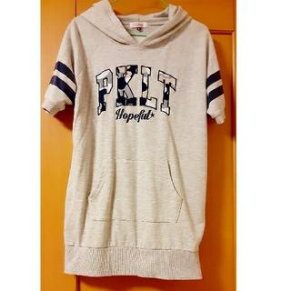 ピンクラテ(PINK-latte)のピンクラテ 半袖パーカーM(165㎝)(Tシャツ/カットソー)
