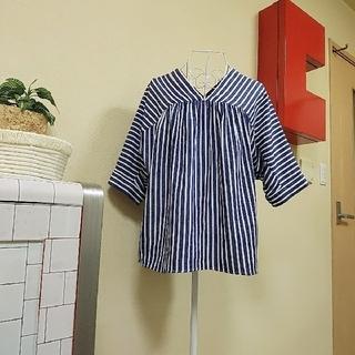 コーエン(coen)のcoenボーダーカットソー五分袖(カットソー(半袖/袖なし))