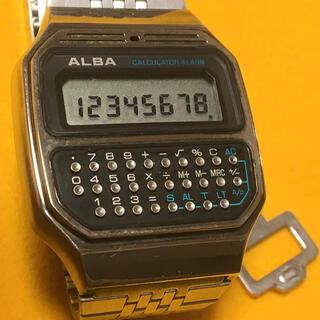 SEIKO - SEIKO ALBA オールドデジタル カリキュレーター レトロフューチャー