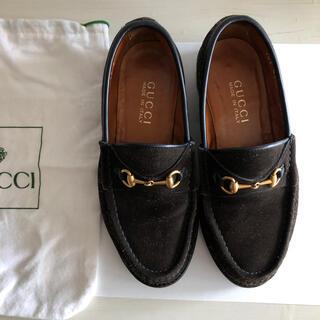 Gucci - GUCCI グッチ ビットローファー 黒 靴袋付き