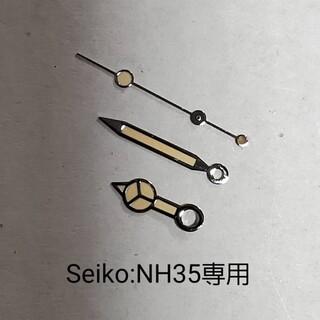 セイコー(SEIKO)の焼け加工:NH35、36ムーブ用ベンツ針(シルバー)(その他)