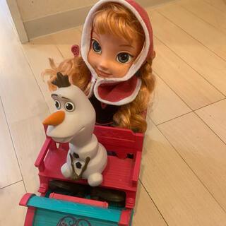 アナトユキノジョオウ(アナと雪の女王)のアナ雪 アナ そり おもちゃ 人形 ドール ディズニー(キャラクターグッズ)