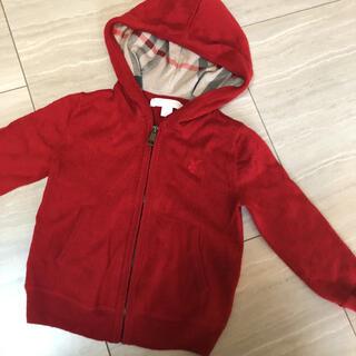 バーバリー(BURBERRY)のBurberry childrenパーカー赤色(ジャケット/上着)