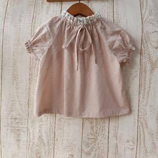 Caramel baby&child  - ハンドメイド商品フリルのドロップショルダーブラウスとドロワーズ風パンツ2点セット