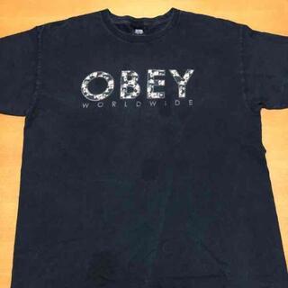 オベイ(OBEY)のオベイ Tシャツ メキシコ製 ビッグプリント ビッグシルエット L(Tシャツ/カットソー(半袖/袖なし))
