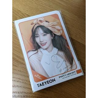 ショウジョジダイ(少女時代)のTaeyeon ポストカード&ステッカーセット(アイドルグッズ)