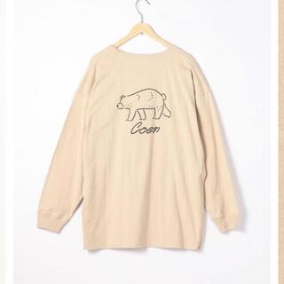 coen - 美品☆coen☆コーエンベアバックプリントTシャツ