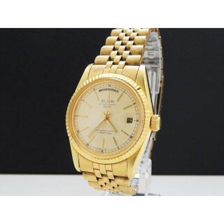 エルジン(ELGIN)のELGIN INTERNATIONAL DELUXE デイデイト ゴールド(腕時計(アナログ))