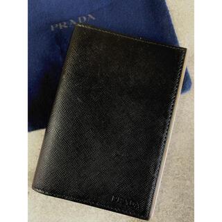 プラダ(PRADA)のPRADA 名刺ケース カードケース 定期ケース 黒(名刺入れ/定期入れ)
