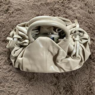イタリア製GIANNI CHIARINI★素敵な本革リボンバック(ハンドバッグ)