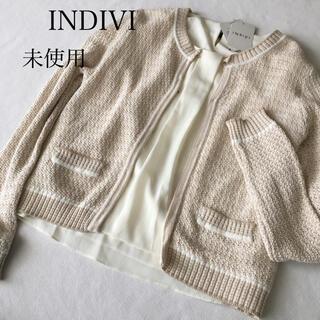インディヴィ(INDIVI)の未使用 インディヴィ カーディガン ブラウス セット 白 M(アンサンブル)