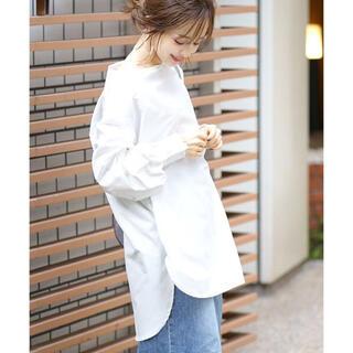 ZARA - 美品☆coca ボートネックバルーンスリーブシンプルシャツ ホワイト