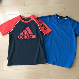 adidas - adidas アディダス Tシャツ サッカー150 140ユニクロ速乾Tシャツ