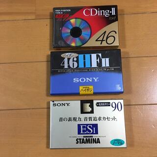 未開封カセットテープ ハイポジ2本ノーマル1本(その他)