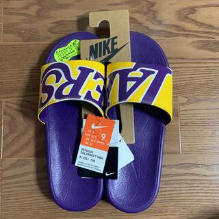 ナイキ(NIKE)のベナッシ SOLARSOFT NBA Lakers レイカーズ(サンダル)