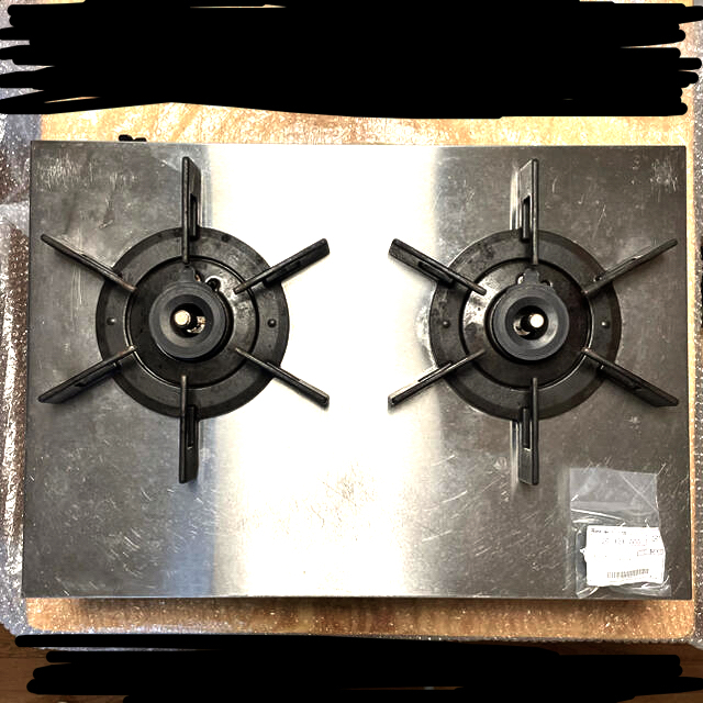 Rinnai(リンナイ)のリンナイ Rinnai バーモ LPガス ガスコンロ ガステーブル チューブ付き スマホ/家電/カメラの調理家電(ガスレンジ)の商品写真