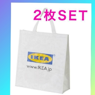 IKEA - イケア:新品:IKEA KLAMBY クラムビー バッグ, ホワイト 2枚