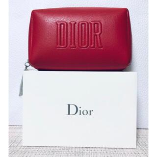 Dior - 【新品未使用】Dior ディオール  ポーチ レッド ノベルティ