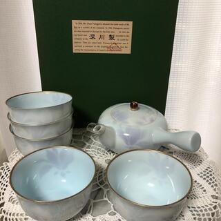 【新品・未使用】有田焼 深川製磁 茶器揃(急須・湯呑5客)(食器)