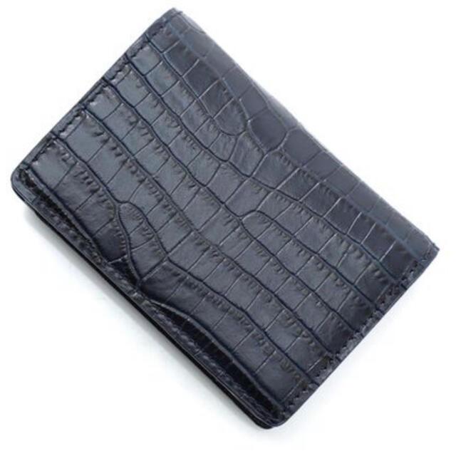 JIMMY CHOO(ジミーチュウ)の極美品【JIMMY  CHOO】 クロコダイル型押し折りたたみ財布 レディースのファッション小物(財布)の商品写真