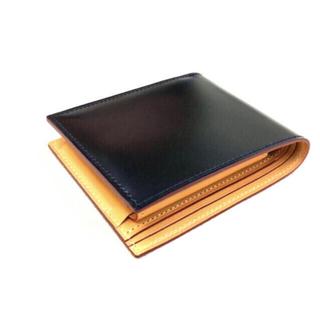 ガンゾ(GANZO)のGANZO コードバン 小銭入れ付き二つ折り財布 ブラック(折り財布)