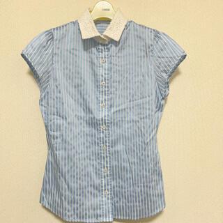 ナラカミーチェ(NARACAMICIE)の美品 NARACAMICIE ストライプブラウス(シャツ/ブラウス(半袖/袖なし))