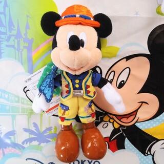 ミッキーマウス(ミッキーマウス)のディズニーシー 19周年 ミッキー ぬいぐるみバッジ トレイル ぬいぐるみバッチ(キャラクターグッズ)