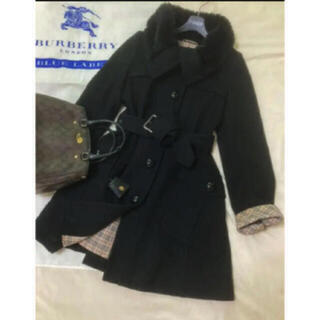 BURBERRY BLUE LABEL - 美品 バーバリー ブルーレーベル コート ブラック 黒