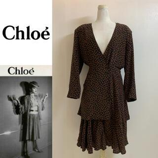 クロエ(Chloe)のChloe VINTAGE クロエ 80s〜90s 総柄シルクセットアップ 40(セット/コーデ)