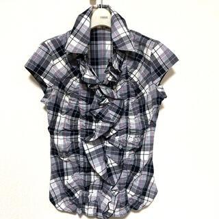 ナラカミーチェ(NARACAMICIE)の美品 NARACAMICIE チェックフリルブラウス(シャツ/ブラウス(半袖/袖なし))