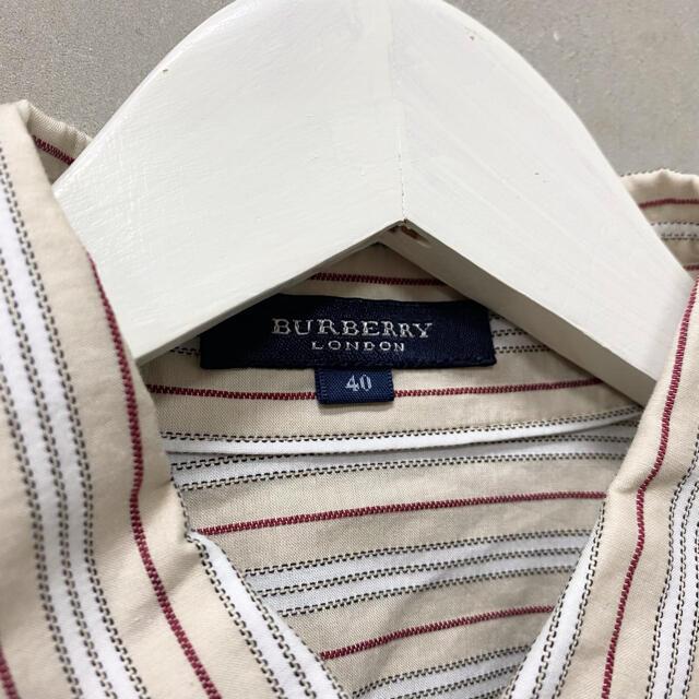 BURBERRY(バーバリー)の【BURBERRY】ストライプシャツ ブラウス バーバリー レディースのトップス(シャツ/ブラウス(半袖/袖なし))の商品写真